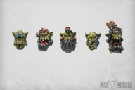Orc Tech Freaks heads (5)