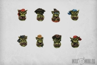 Pirate Orc Boys Heads (10)