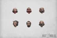 Werewolf heads (6)