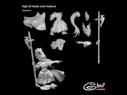 High Elf Noble with Halberd, Var.1